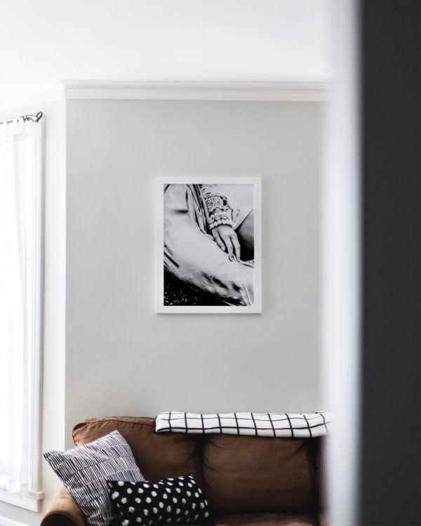 A simple touch fotoprint i vardagsrummet
